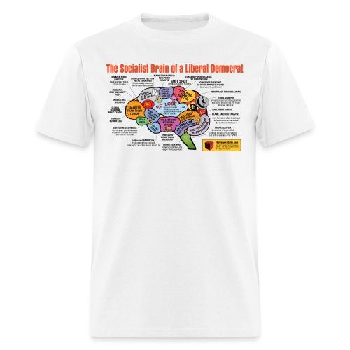 Brain of a socialist - Men's T-Shirt
