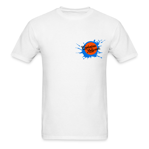 White Explosion Network Pocket Tee w/ Characters - Men's T-Shirt