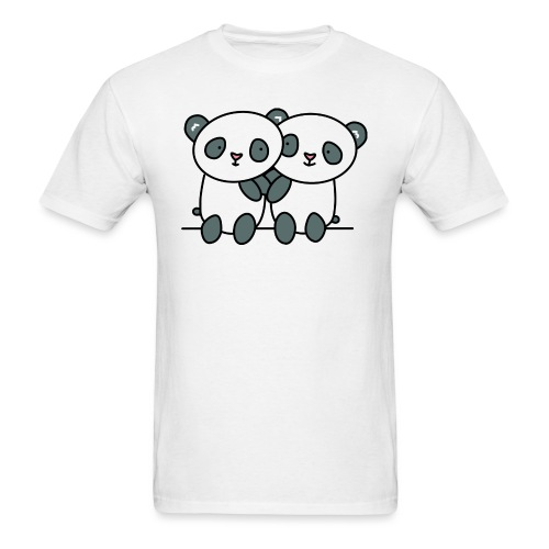 Cute Pandas Hugging - Men's T-Shirt