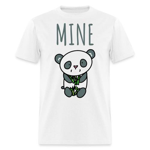 Cute Panda Eating And Holding Bamboo - Men's T-Shirt