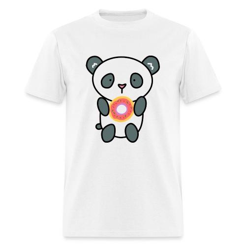 Cute Panda with Donut - Men's T-Shirt