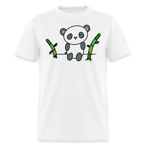 Panda with Bamboo - Men's T-Shirt