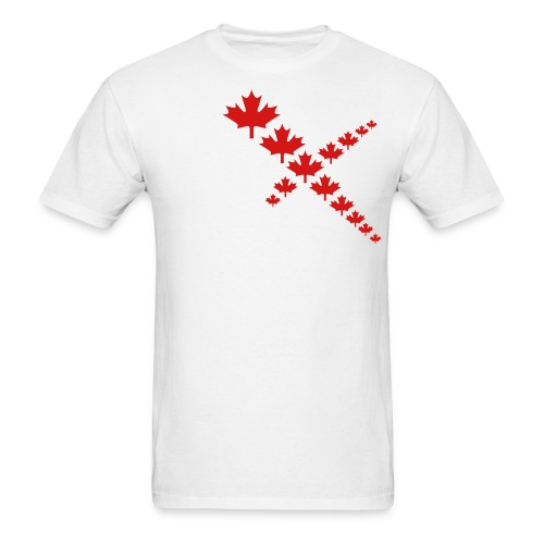 Maple Leafs Cross - Men's T-Shirt