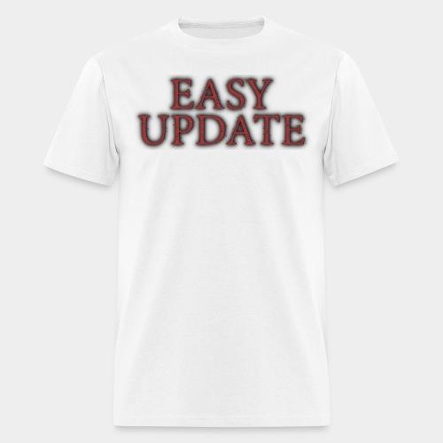 Easy Update Logo Red - Men's T-Shirt