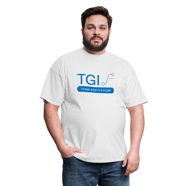 TGIF Blue on white