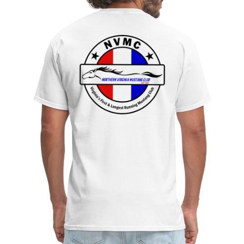 Circle logo t-shirt on white with black border - Men's T-Shirt