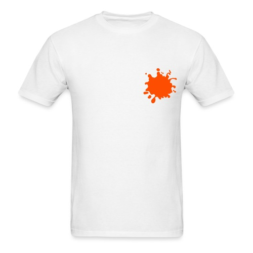 White Explosion Network Logo w/Pocket Splatter Tee - Men's T-Shirt