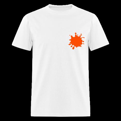 White Explosion Network Logo w/Pocket Splatter Tee - Men's T-Shirt