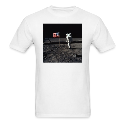 buzzAldrin jpg - Men's T-Shirt