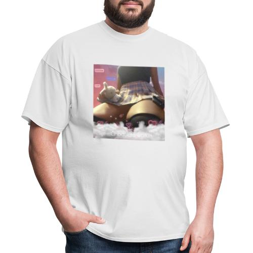 Chocolate waifu black text - Men's T-Shirt