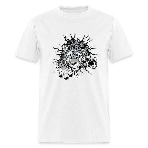 STUCK Snow Leopard (double-sided) - Men's T-Shirt