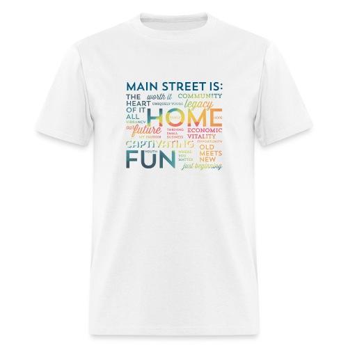 Multi-colored Graphic T-shirt - Men's T-Shirt