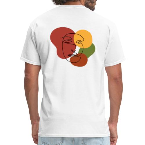 abstract minimalist face - Men's T-Shirt