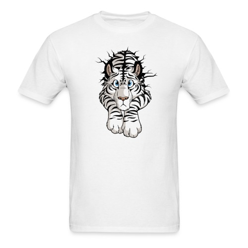 STUCK Tiger White (double-sided) - Men's T-Shirt