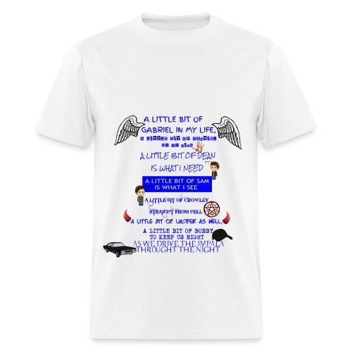 Supernatural song spoof shirt - Men's T-Shirt