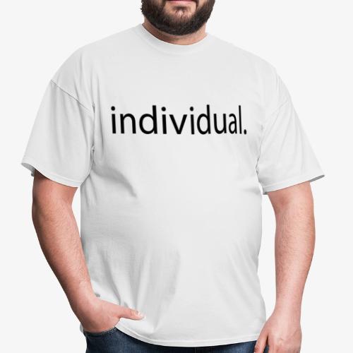 white individual tee - Men's T-Shirt