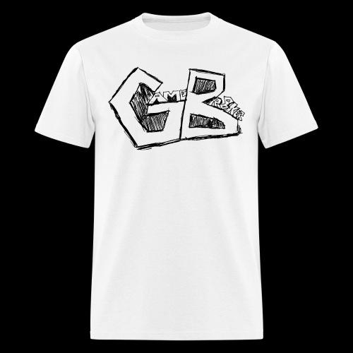 GameBr8ker Scribble Black Print - Men's T-Shirt