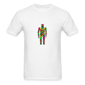 Cartoon Robocop in Color - Men's T-Shirt
