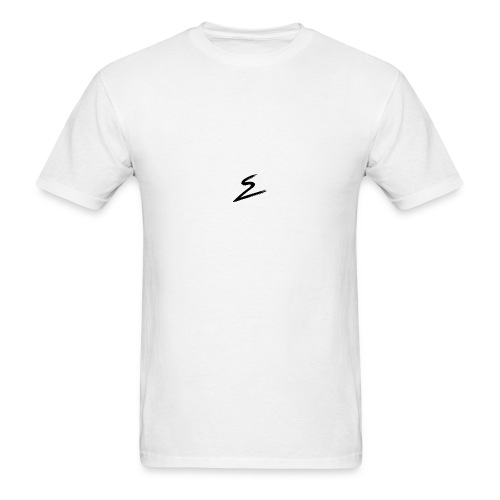 Swirv Signature Logo White - Men's T-Shirt