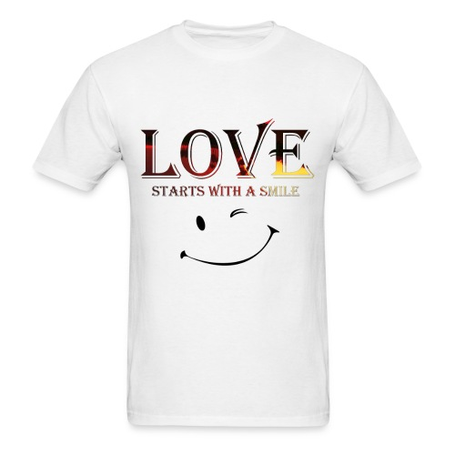 lOVE starts with a smille - Men's T-Shirt
