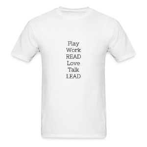 Play_Work_Read - Men's T-Shirt