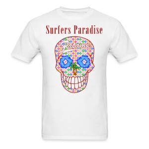 Patame Surfers Paradise Skull Red - Men's T-Shirt