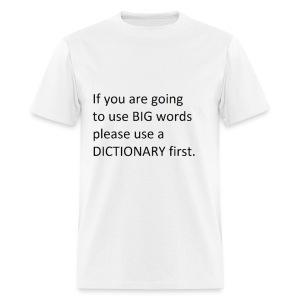Dictionary First - Men's T-Shirt