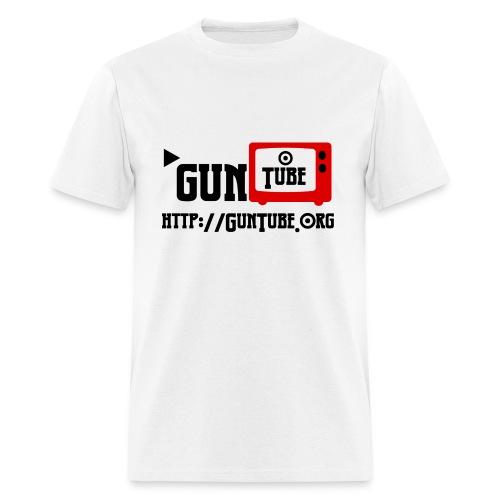 GunTube Shirt with URL - Men's T-Shirt