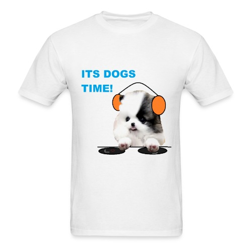 its dogs time! - Men's T-Shirt