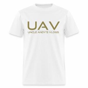 Uncle Andy's Vlogs Merch (gold) - Men's T-Shirt
