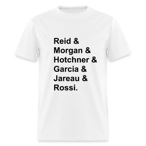 criminal minds character lineup - Men's T-Shirt
