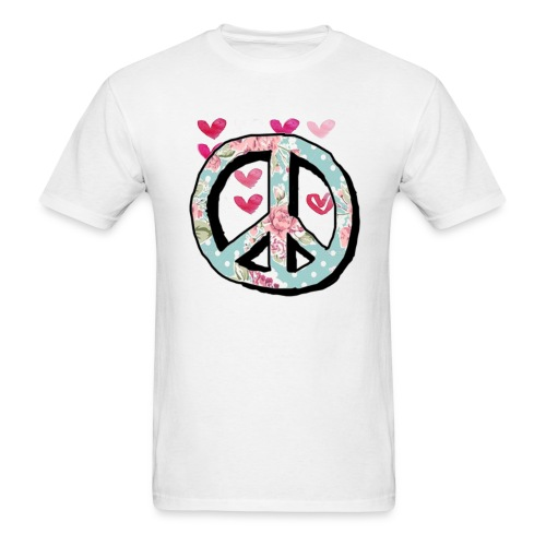 Peace and love cute shirts - Men's T-Shirt