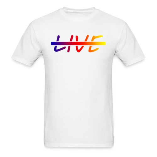 Live Logo Gradient - Men's T-Shirt