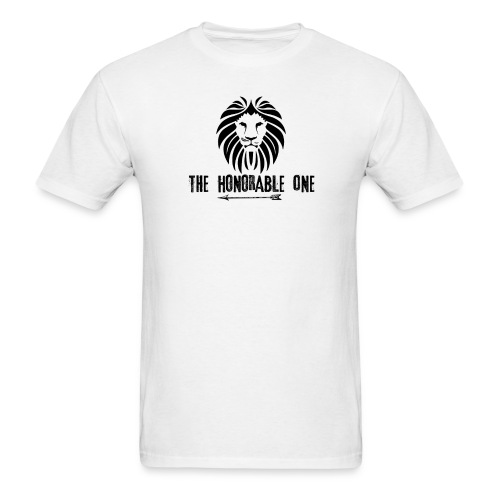 Lion: The Honorable One (Black) - Men's T-Shirt