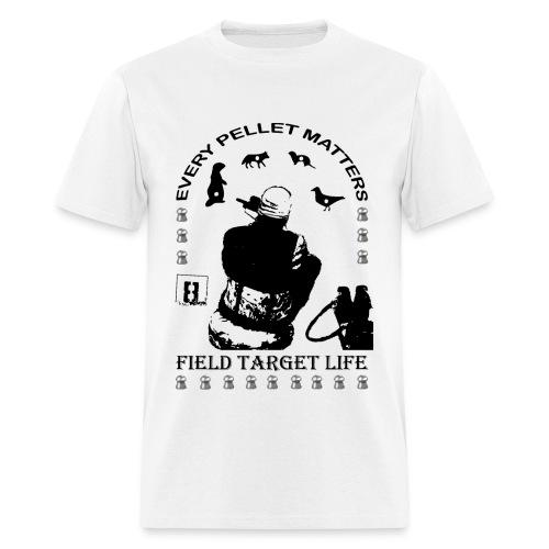 T-shirt Every Pellet Matters Air Rifle Target - Men's T-Shirt