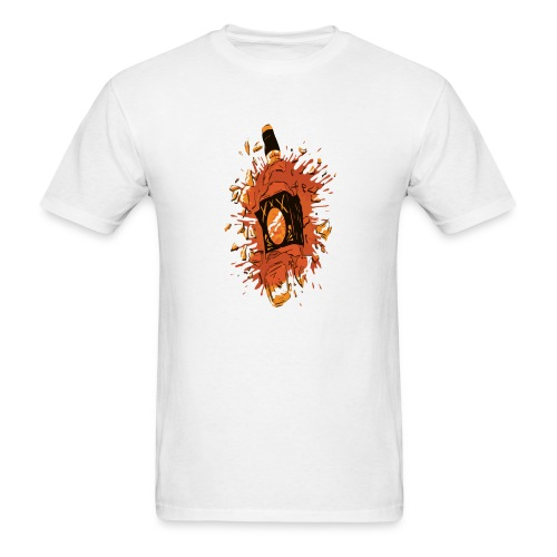 Broken Liquor Bottle - Men's T-Shirt
