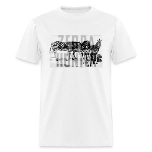 zebra hunter - Men's T-Shirt