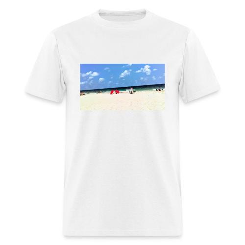 BEACH OF RED UMBRELLAS - Men's T-Shirt