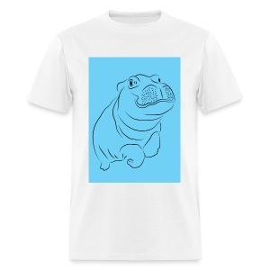 Blue Hippo - Men's T-Shirt