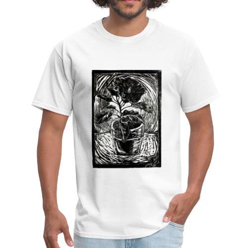 Hibiscus, 2017 linocut print by Jana Griffis - Men's T-Shirt