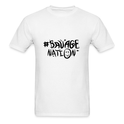 SAVAGE NATION classic black - Men's T-Shirt