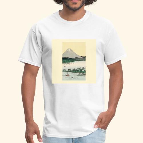 Mount Fuji from Suruga Bay Japan - Men's T-Shirt