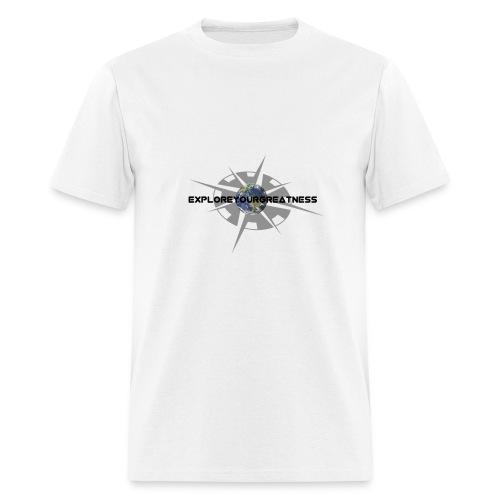 ExploreYourGreatness black logo - Men's T-Shirt
