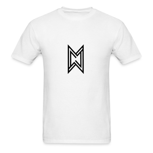 Black Logo White T-Shirt - Men's T-Shirt