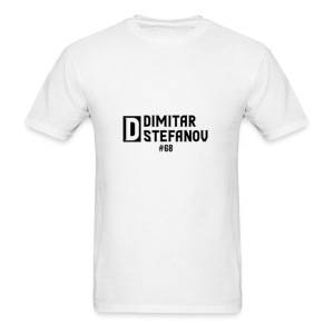 Dimitar Stefanov #68 Logo Design - Men's T-Shirt