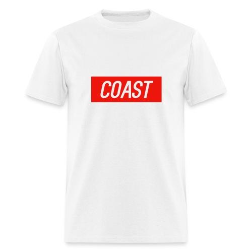 Coast (Red Box Design) - Men's T-Shirt