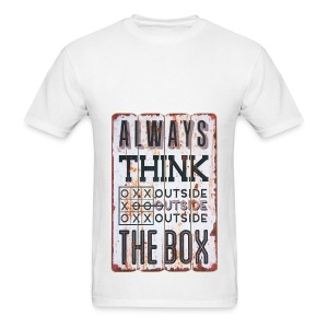 Always think outside the box - Men's T-Shirt