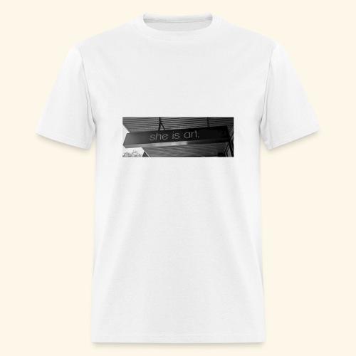 She is art. - Men's T-Shirt