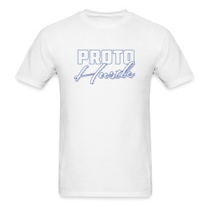 PROTO HUSTLE LOGO BLUE - Men's T-Shirt