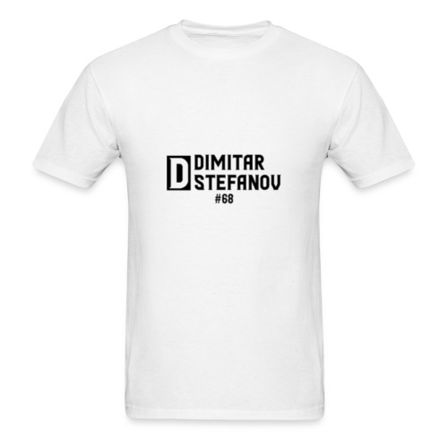 Dimitar Stefanov #68 Logo Design - Men's T-Shirt